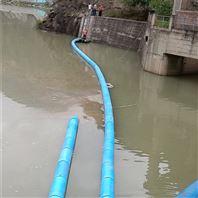 水葫芦拦截设施管式拦污浮排施工案例