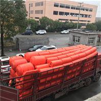 自浮式攔污漂庫區漂浮物導漂裝置