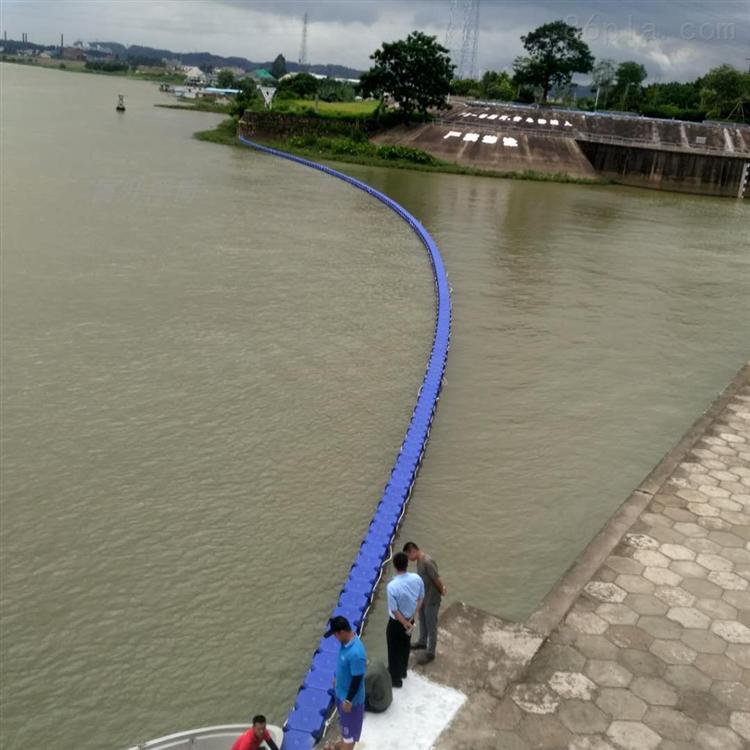 库区浮式拦污栅电站挡垃圾浮筒施工