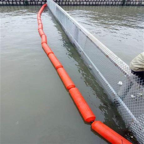 湖面攔污警示浮體